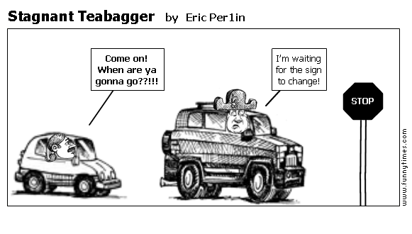 Stagnant Teabagger by Eric Per1in