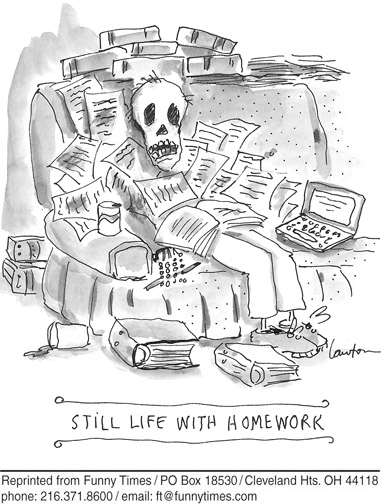 Funny school lawton homework  cartoon, August 21, 2013