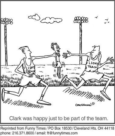 Funny team race friendship  cartoon, August 28, 2013