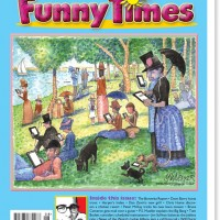 August 2013 Funny Times issue cover