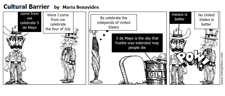 Cultural Barrier by Maria Benavides