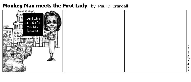 Monkey Man meets the First Lady by Paul D. Crandall