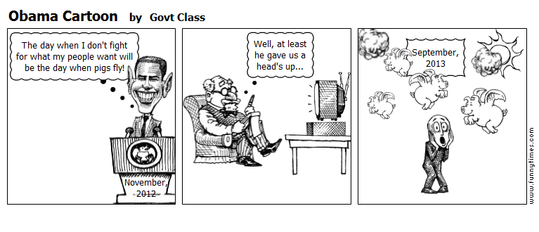 Obama Cartoon by Govt Class