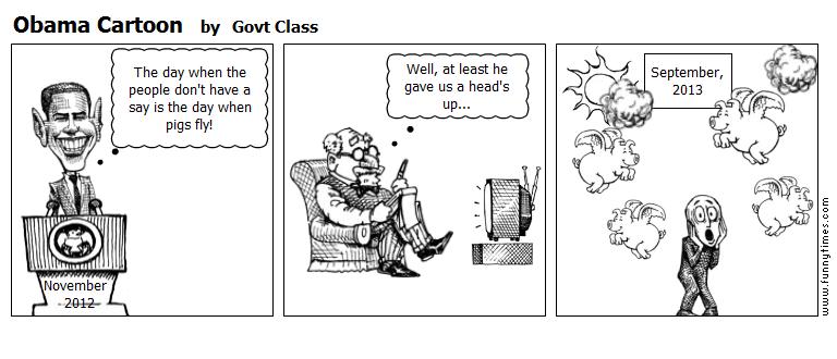 Obama Cartoon by Govt Class