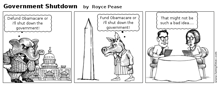 Government Shutdown by Royce Pease