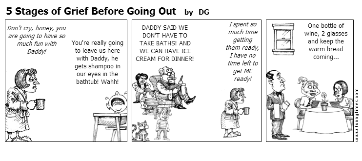 5 Stages of Grief Before Going Out by DG