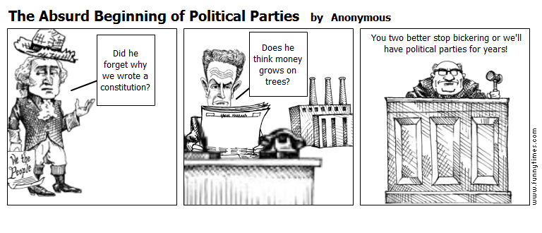 The Absurd Beginning of Political Partie by Anonymous