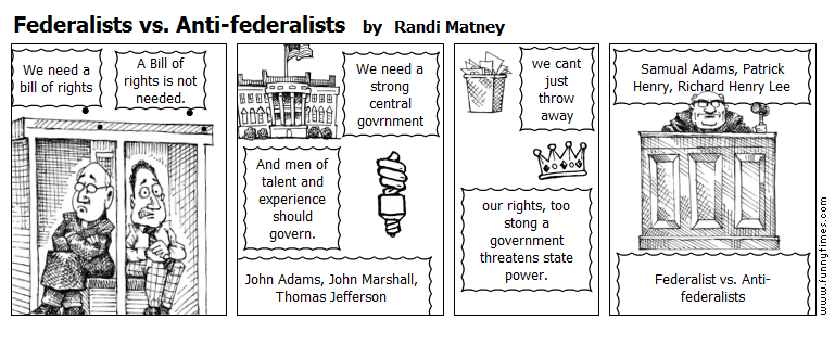 Federalists vs. Anti-federalists by Randi Matney