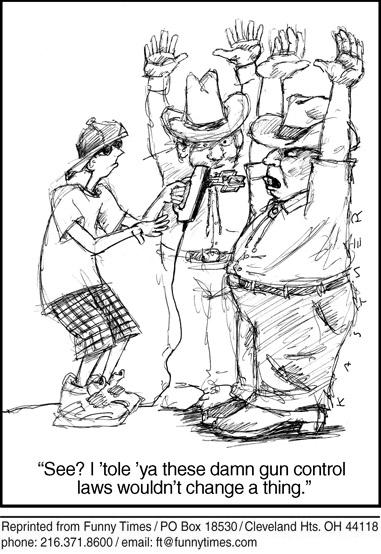 Funny control guns gun  cartoon, September 04, 2013