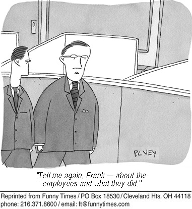 Funny work business employee  cartoon, September 18, 2013