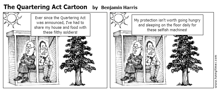 The Quartering Act Cartoon by Benjamin Harris