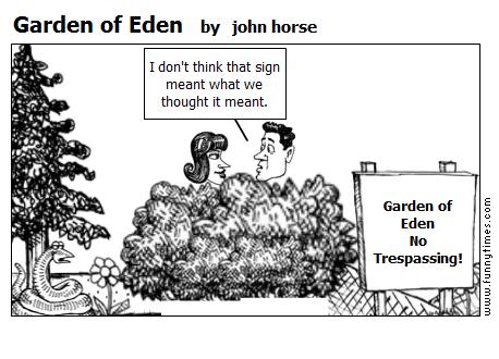 Garden of Eden by john horse