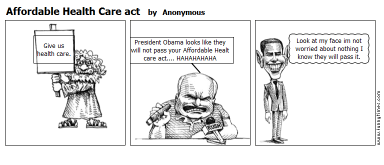 Affordable Health Care act by Anonymous