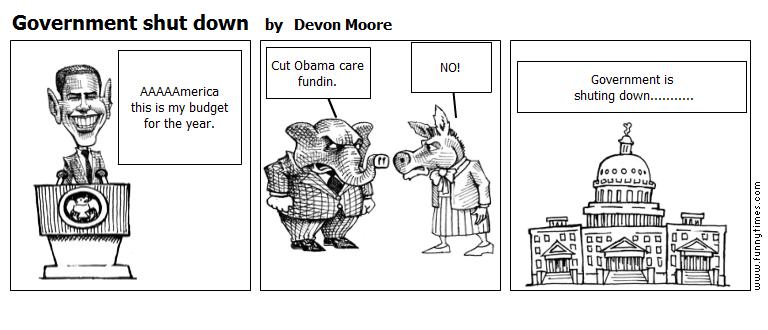 Government shut down by Devon Moore