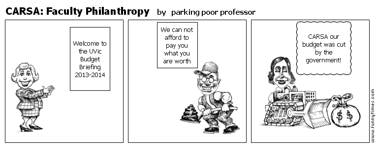 CARSA Faculty Philanthropy by parking poor professor