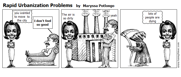 Rapid Urbanization Problems by Maryssa Potlongo