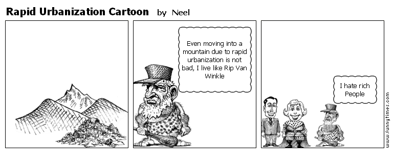 Rapid Urbanization Cartoon by Neel