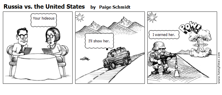 Russia vs. the United States by Paige Schmidt