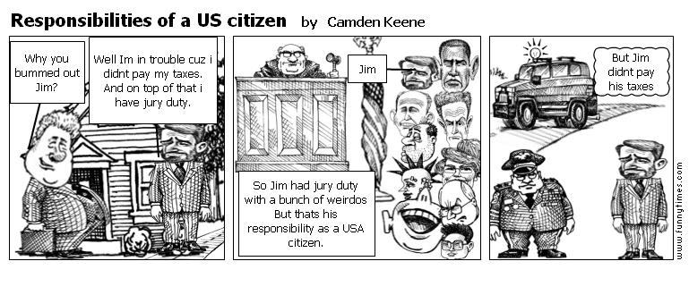 Responsibilities of a US citizen by Camden Keene