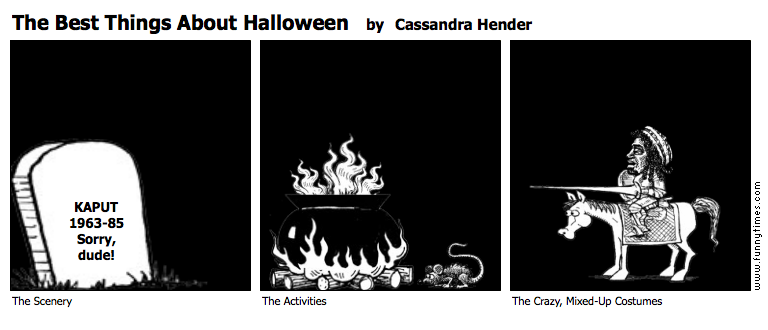 The Best Things About Halloween by Cassandra Hender
