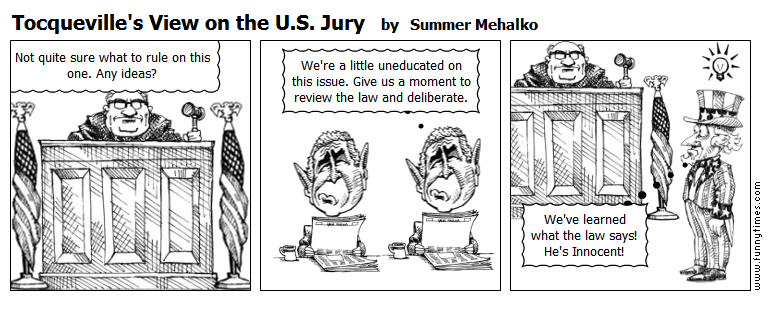 Tocqueville's View on the U.S. Jury by Summer Mehalko