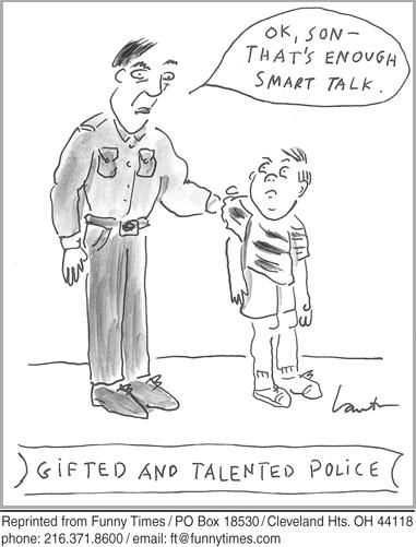 Funny kids police intelligence  cartoon, October 02, 2013