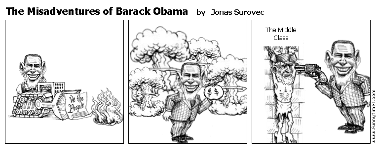 The Misadventures of Barack Obama by Jonas Surovec