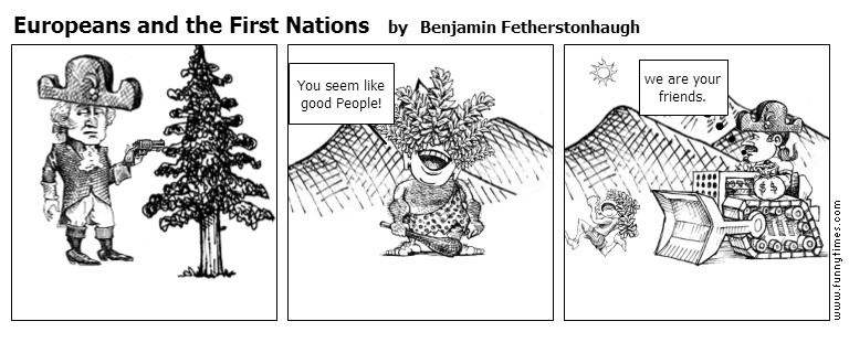 Europeans and the First Nations by Benjamin Fetherstonhaugh