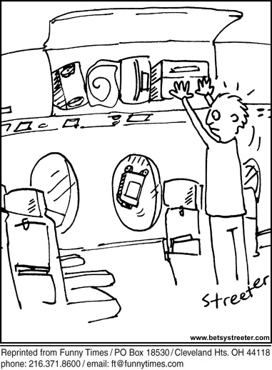 Funny streeter airlines airplane  cartoon, November 13, 2013