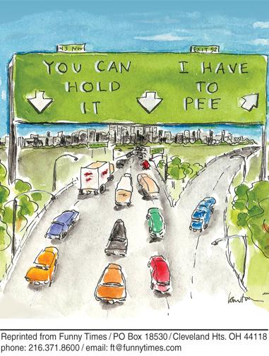 Funny travel sign vacation  cartoon, November 20, 2013