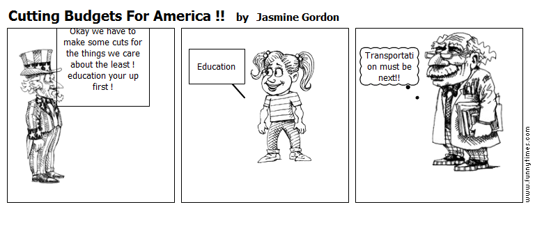 Cutting Budgets For America  by Jasmine Gordon