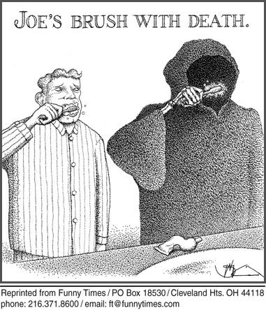 Funny death reaper psychology  cartoon, December 11, 2013