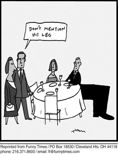 Funny restaurant friends dinner  cartoon, December 18, 2013
