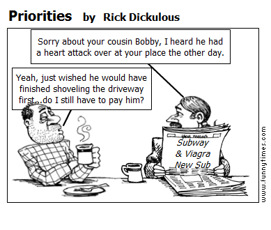 Priorities by Rick Dickulous