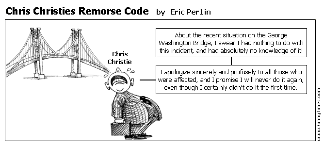 Chris Christies Remorse Code by Eric Per1in