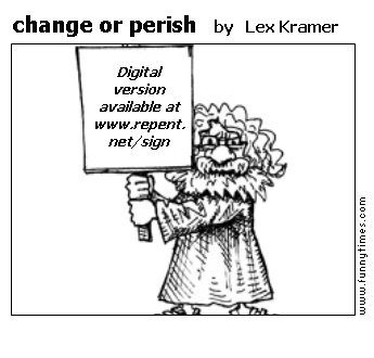 change or perish by Lex Kramer