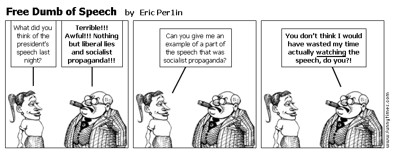 Free Dumb of Speech by Eric Per1in