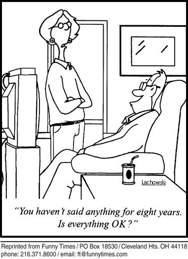 Funny marriage talking year  cartoon, January 01, 2014
