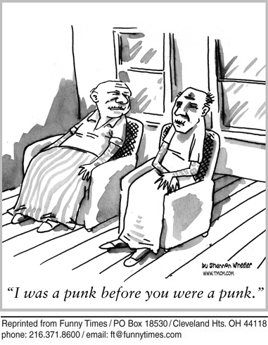 Funny Wheeler punk nostalgia  cartoon, January 22, 2014