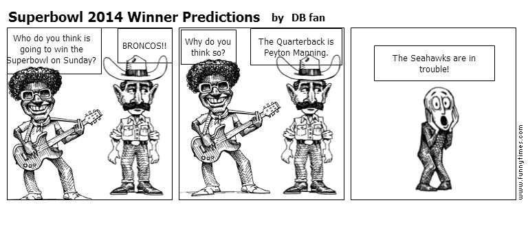 Superbowl 2014 Winner Predictions by DB fan