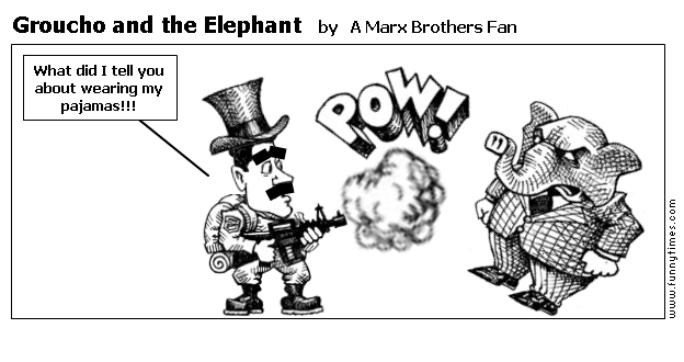 Groucho and the Elephant by A Marx Brothers Fan