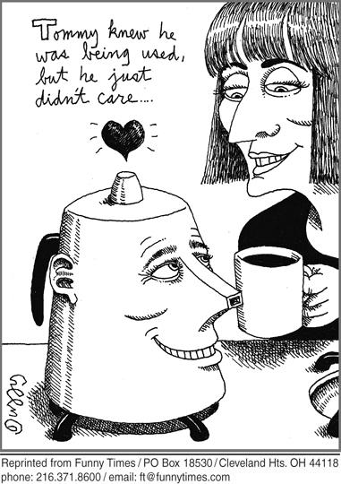 Funny doctor love coffee  cartoon, February 05, 2014