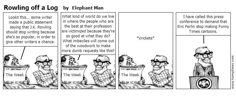 Rowling off a Log by Elephant Man