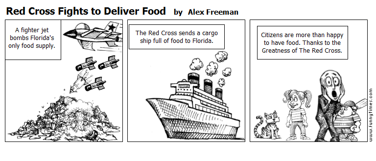 Red Cross Fights to Deliver Food by Alex Freeman