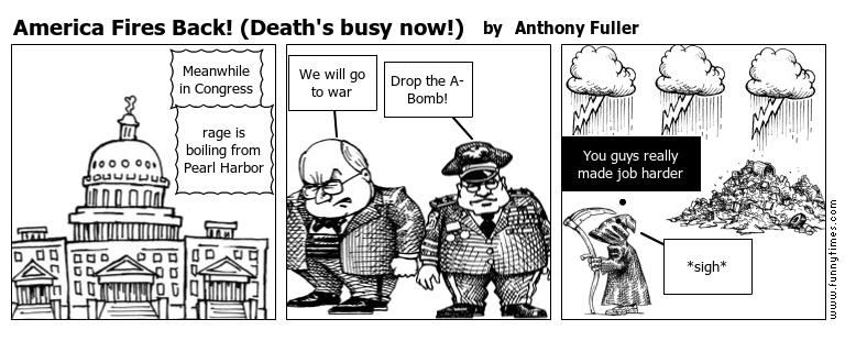 America Fires Back Death's busy now by Anthony Fuller