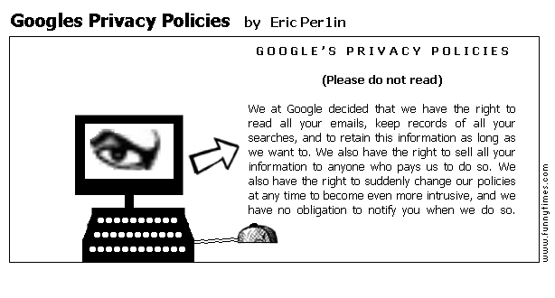 Googles Privacy Policies by Eric Per1in