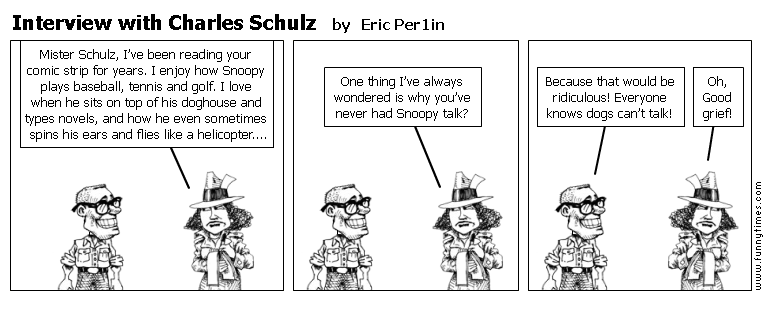 Interview with Charles Schulz by Eric Per1in