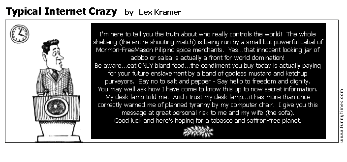 Typical Internet Crazy by Lex Kramer