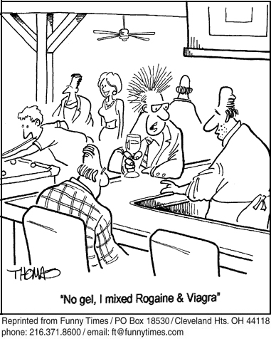Funny viagra hair thomas  cartoon, April 02, 2014