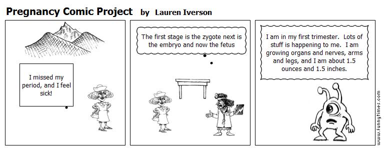 Pregnancy Comic Project by Lauren Iverson